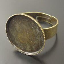 36078 Antiqued Bronze Vintage Iron Round Ring Inner Size 18*18mm 60PCS