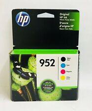 New Genuine HP 952 Black 952 Standard BCMY 4pk Ink Cartridges OfficeJet Pro 7720