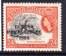 GUYANA 1967 SG435 24c overprinted INDEPENDENCE 1966 - unmounted mint. Cat £11