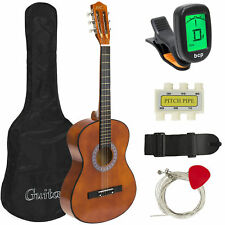 Best Choice Products 38in Beginner Acoustic Guitar Bundle Kit W/ Case Strap Di