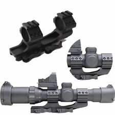 "30mm/1"" Dual Ring Cantilever Quick Release Scope Rail Mount Picatinny Weaver SER"