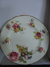 vintage hammersley miniature plate floral gold trim