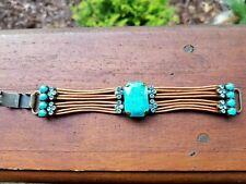 Leather Bracelet Fashion Turquoise and