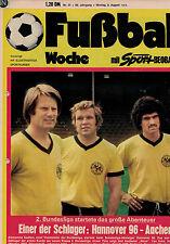 Fußball Woche 31/1974,Bundesliga,ETB SCHWARZ-WEIß/SSV REUTLINGEN POSTER,