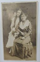 """EARLY 1900'S RPPC REAL PHOTO POSTCARD mother daughter"