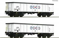 Roco 76731 HO Gauge Ecco Rail Eaos Gondola Set (2) VI