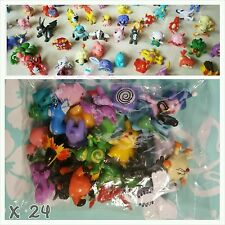 Cute Lot of 24pcs 2-3cm Pokemon mini Figures great for party bag or cake toppers