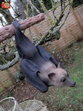 A LIFE SIZE FRUIT BAT, OUTDOOR OR INDOOR,  ULTRA REALISTIC. VIVID ARTS. GOTHIC