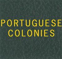 Scott Series Green Binder Portuguese Colonies Gold Lettering Label Stamp Albums