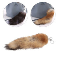 Large Fluffy Fox Tail Pendant Key Ring Holder Keychain Car Bag Ornament Reliable