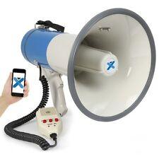 MEGAPHONE PORTE VOIX 55W SIRENE MICRO AMOVIBLE BLUETOOTH USB CARTE SD MP3 AUX