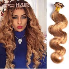 300g/3bundles virgin honey blonde brazillian bodywave human hair 18inches