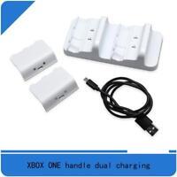 Für Xbox One S Dual Ladestation Controller Ladegerät mit 2_Akku
