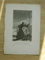 Grabado Desorne Ilustración Cuento de Jean de La Fuente El Cuadro