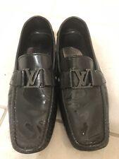 Authentic Louis Vuitton Men's Monte Carlo Rare Black Patent Leather Shoe Size 10