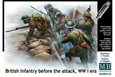 MasterBox MB35114 1/35 British Infantry before the attack WW I era