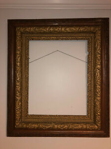 Antique Victorian Wood & Gesso Picture Frame - Opening 15 1/2'' W x 19 1/2'' T