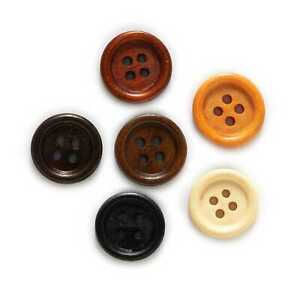 Round 4 hole Wooden Buttons for Sewing Scrapbook Clothing Crafts Gift 10-25mm