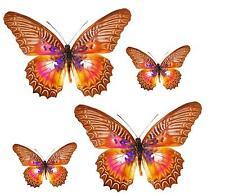 4x sticker adesivi adesivo pc wall auto moto farfalla farfalle marrone murali