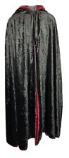 Black & Burgundy Hooded Cape Length 52'' Adult LARP Costume Holloween Weight 4lb