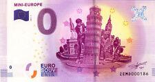 BELGIQUE Bruxelles, Mini-Europe, N° de la 2ème liasse, 2017, Billet 0 € Souvenir