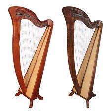 34 Saite McHugh Harfe, 34 String Irish Lever harp, Celtic Irish Harp