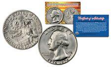 1976 S Washington Bicentennial Quarter Gem BU 40% Silver US Coin w/ COA & HOLDER