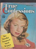 True Confessions Magazine September 1949 Roberto Rossellini Ingrid Bergman