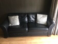 Marks & Spencer's Abbey 3 Seater Black Leather Sofa