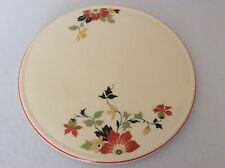 """VTG American Dinnerware Abstract Floral Ceramic Cake Serving Plate 10 1/2"""""""