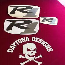 R1 GRAPHITE & CHROME SET NOSE & CONE SEAT UNIT DECALS STICKERS GRAPHICS