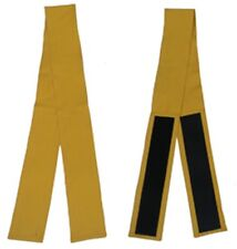 """Mustard Fabric Belt with Hook and Loop Fasteners (3"""" wide and 50"""" long)"""