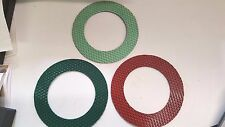 "Diamond Resin Polishing Pads, 7-3/4"" with 5"" Arbor Hole, Hook & Loop Backing"
