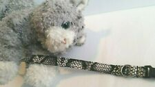 Cat Collar Handmade, Snake Skin Fabric Design - Break-away Buckle
