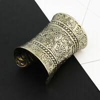 XL Armband Armreif Armspange Manchette Metall Indien Breiter 95 mm