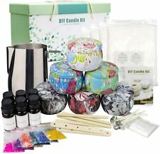 NEW! Candle Making Kit Set Melting Pot Beeswax Cotton Wicks Natural Scented Tins