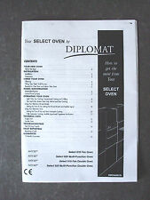 DIPLOMAT SELECT OVEN 610 620 910 920 COOKER INSTRUCTION MANUAL EXPRESS DELIVERY