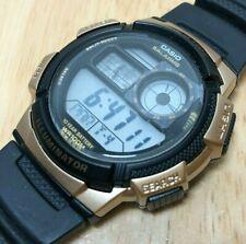 Casio AE-1000W World Time Men 100m Digital 5 Alarms Chrono Watch Hour~New Batter
