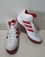NEW Adidas Turf Hog LX Mid White/Red Football Cleats D70189