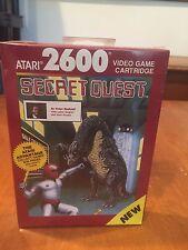 Secret Quest Atari 2600 & Atari 7800 Compatible Video Game 1989 NIB NIP