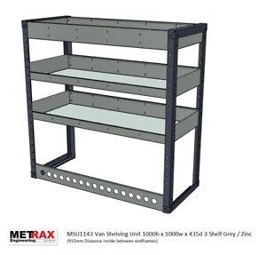 METRAX VAN RACKING SHELVING 1000h x 1000w x 435d 3 shelf - Vivaro,Transit,Trafic