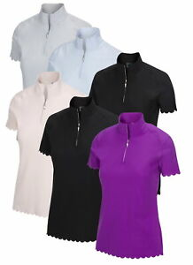 Greg Norman Womens X-Lite 50 Zip Polo Golf Shirt - New 2020