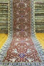 vegy COLORANTI cr1930-1939s ANTICO 102cm×3M lana floreale Hereke RUNNER
