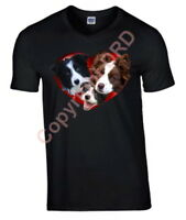 Border Collie Heart Tshirt, T-shirt Mothers Day Gift Collie Birthday Gift