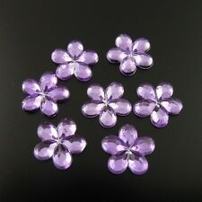 3300X Acrylic Flower Cut Faceted Flat Back Cabochon Button Decoration 6mm