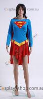 Supergirl One-piece Dress Belt Cosplay Costume Halloween