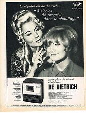 PUBLICITE ADVERTISING  1965   DE DIETRICH   calorifère mazout