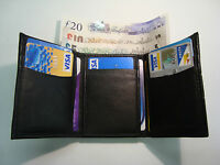 Leather Gents Trifold Wallet With 10 Credit Cards Slots 2 Paper Money Slots