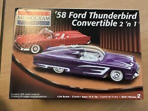 Monogram 1/24 '58 FORD Thunderbird 2 'n 1 Model Kit. Unbuilt.