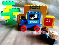 Lego Duplo Polizei 522 -1 Police Station Polizist Gefangen Polizei Auto Oldtimer